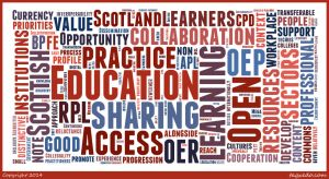 Tag Cloud of OEP in Scottish Context