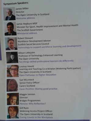 Symposium speakers
