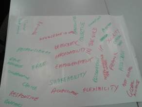 Dundee: Openness brainstorm (CC-BY 4.0 Beck Pitt)