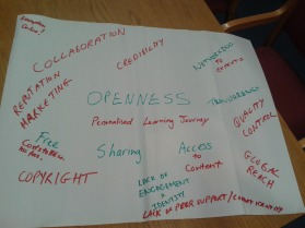 UWS: Openness brainstorm (CC-BY 4.0 Beck Pitt)
