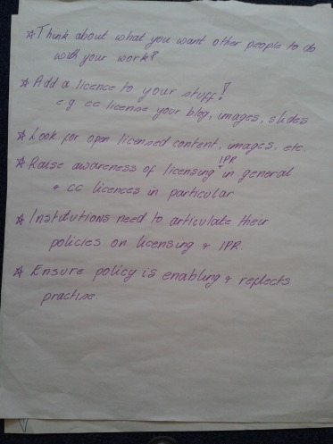 Best practice suggestions from workshop B, OEPS Forum 4 (CC-BY 4.0, Beck Pitt)
