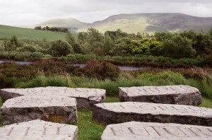 "The Present Order is the Disorder of the Future, quote from Antione de Saint-Just, from Ian Hamilton Finlay's garden ""Little Sparta"", Little Sparta, https://www.flickr.com/photos/psyarch/3841401884 (CC BY-SA-2.0)"