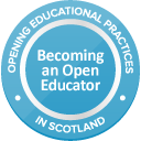 Badge for 'Becoming an open educator'