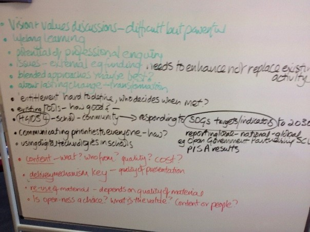 LfSS end of session whiteboard